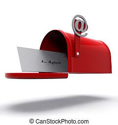 boîte, courrier, correspondance, spectacles, e-mail