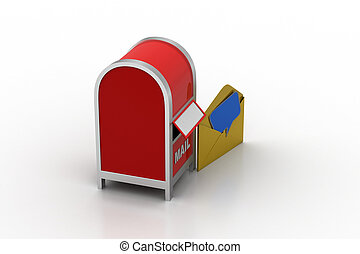 boîte, courrier, email