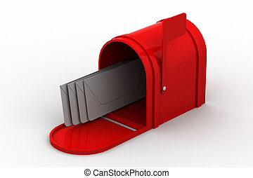 boîte, courrier, lettres