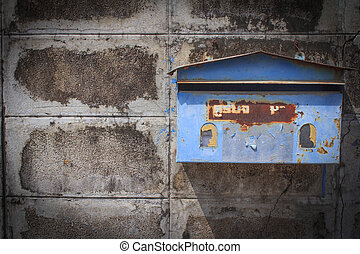 boîte, courrier, thaï, vieux