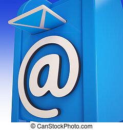 boîte, courriers, projection, email, délivré
