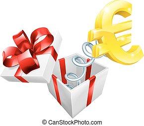 boîte, cric, euro