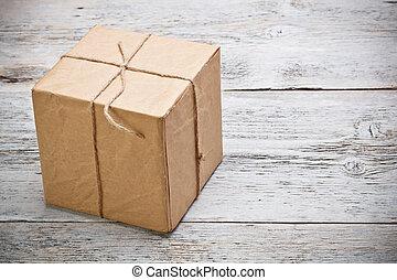 boîte, don a emballé