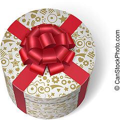 boîte, dons, surprise, présente