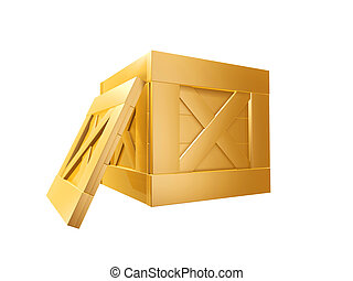 boîte, doré