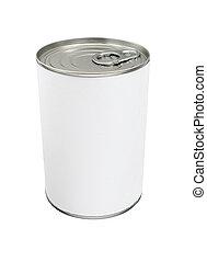 boîte en fer-blanc, vide