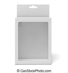 boîte, fenêtre, carton, transparent, plastique
