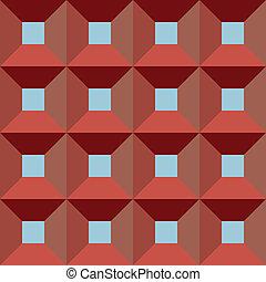 boîte, fenêtre, vecteur, seamless, rouges