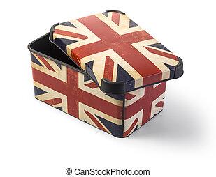boîte, fla, royaume-uni, plastique