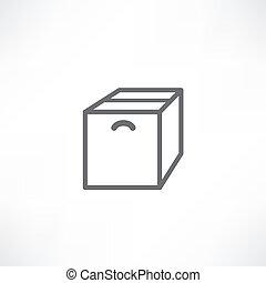 boîte, fond blanc