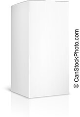 boîte, fond, papier, gabarit, vide, blanc, carton, ou