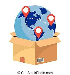 boîte, globe