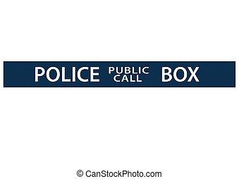 boîte, graphique, police