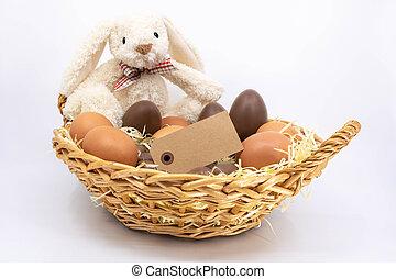 boîte, graphique, ressource, texte, lapin pâques