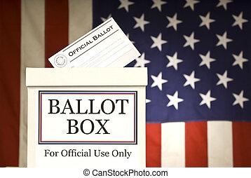 boîte, horizontal, vote