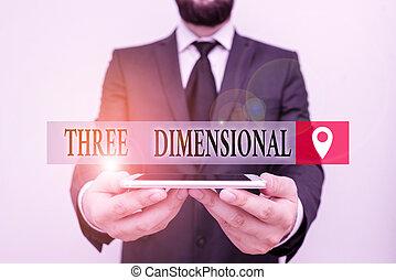 boîte, humain, utilisation, business, conceptuel, profondeur, espace, port travail, smartphone, écriture, être, prise, dimensional., photo, projection, main, complet, mâle, texte, avoir, tourné, formel, choses, main., trois