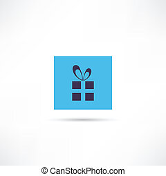 boîte, icône, arc don