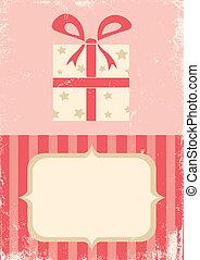 boîte, illustration, cadeau
