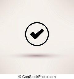 boîte, illustration., isolé, vecteur, chèque, icône