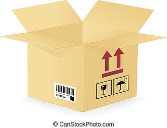 boîte, image, vecteur, carton