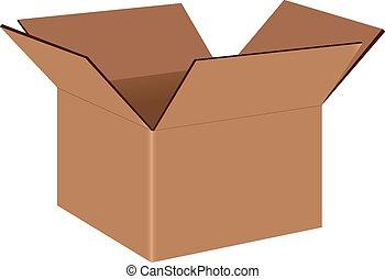 boîte, industriel, carton