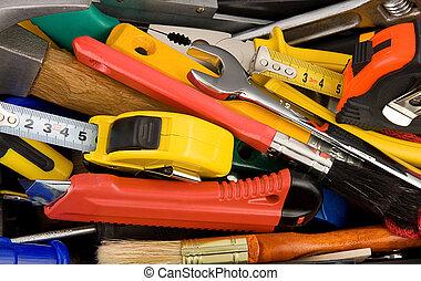 boîte, instruments, outils, kit