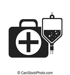 boîte, kit médical