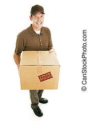 boîte livraison, homme