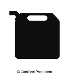 boîte métallique, essence, icône