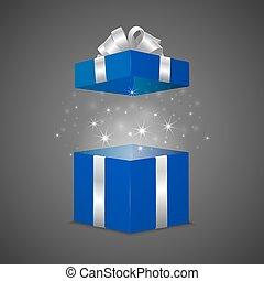 boîte, magie, effet, cadeau