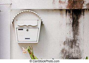 boîte, maison, courrier, devant
