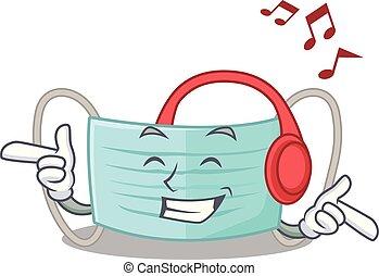 boîte, masque, surigcal, musique écouter, dessin animé