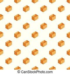 boîte, modèle, vecteur, stockage, seamless