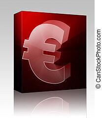 boîte, monnaie, euro, paquet