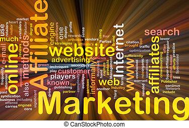 boîte, mot, paquet, commercialisation, affiliate, nuage