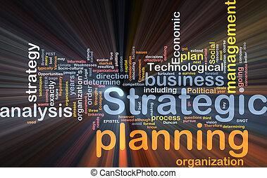 boîte, mot, paquet, planification stratégique, nuage