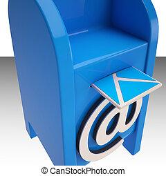 boîte, nouveau, messages, email, spectacles