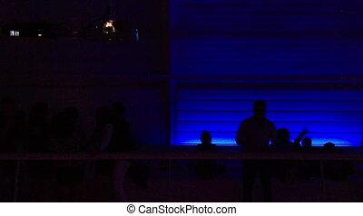 boîte nuit, gens, danse