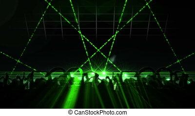 boîte nuit, laser, exposition