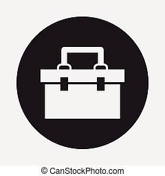 boîte, outillage, icône