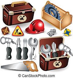 boîte outils, ensemble