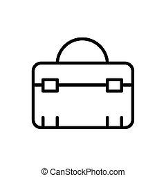 boîte outils, style, icône, équipement, architecture, ligne