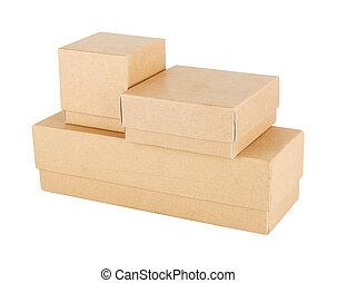 boîte, papier, ensemble