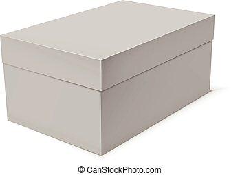 boîte, papier, gabarit, vide, carton, ou