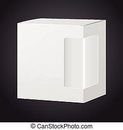 boîte, paquet, plastique, fenêtre, carton, transparent