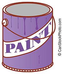 boîte, peinture