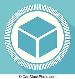 boîte, plat, smartphone, carrée, toile, bleu, editable, eps, vecteur, bouton, application, icône ordinateur, signe, 10