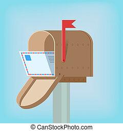 boîte, postal, lettre