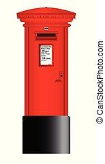 boîte, poste, rouges