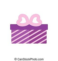 boîte, présent, cadeau, aimez coeur